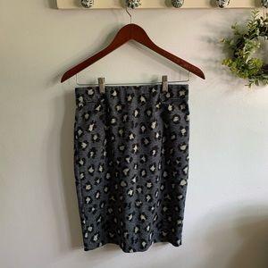 LOFT | Leopard Pencil Skirt